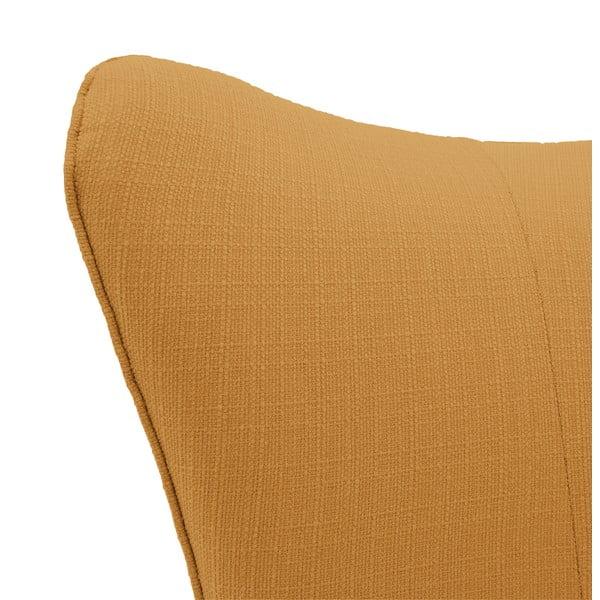 Oranžovo-béžové křeslo Vivonita Sandy, světlé nohy