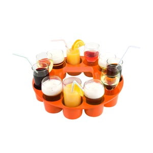 Podnos na drinky Sombrero, oranžový
