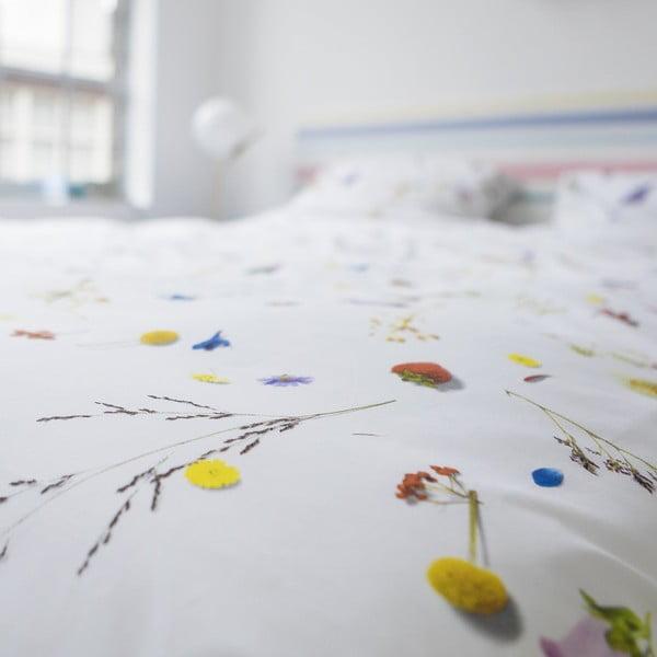 Lenjerie de pat de o persoană, din bumbac Snurk Flower Fields, 140x200 cm