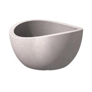 Venkovní květináč Globe 40 cm, šedý