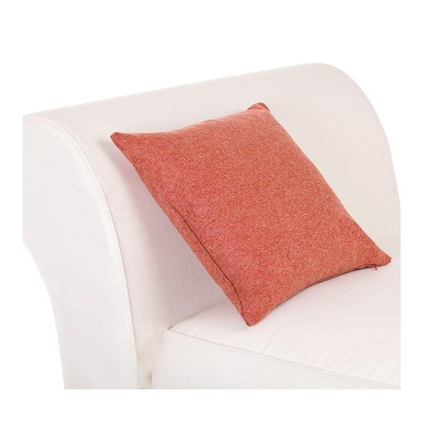 Vlněný polštář Tweed 60x60 cm, oranžový