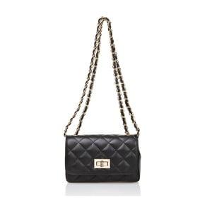 Černá kožená kabelka Markese Eulalia