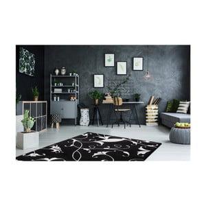 Černobílý koberec Obsession My Black & White Baw Blac, 80 x 150 cm