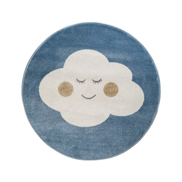 Cloud kék, kerek szőnyeg felhő mintával, ø 100 cm - KICOTI