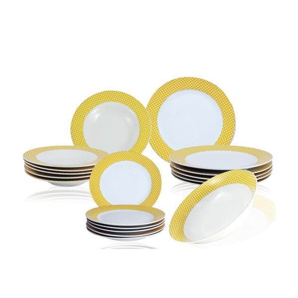 19dílná sada talířů Vajilla Amarilla