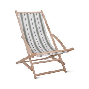 Zahradní lehátko Garden Trading Rocking Deck Chair Green Stripe
