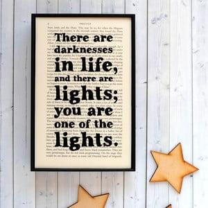 Plakát v dřevěném rámu Dracula Darkness Light