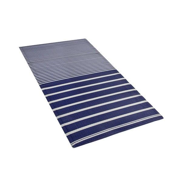 Tmavě modrý venkovní koberec Monobeli Reglio, 90 x 180 cm