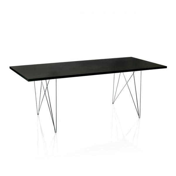 Bella fekete étkezőasztal, hosszúság 200 cm - Magis