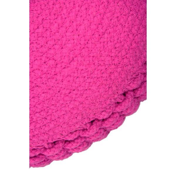 Dětský růžový sedací pufík Needle