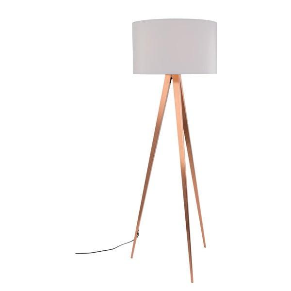 Měděno-bílá stojací lampa Zuiver Tripod