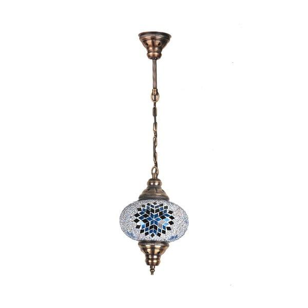 Skleněná ručně vyrobená závěsná lampa Devia, ⌀ 17cm