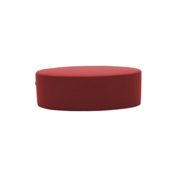 Červený puf Softline Bon-Bon Eco Cotton Red, délka 60 cm