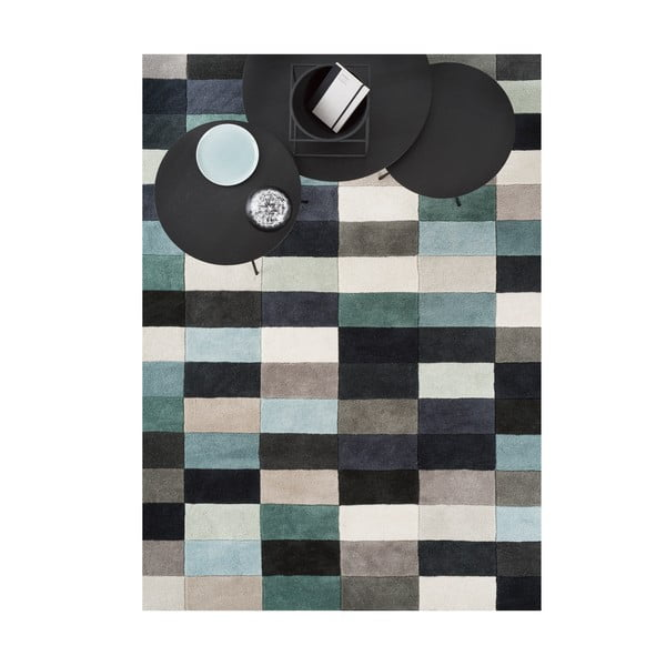 Vlněný koberec Linie Design Romina Aqua, 140x200 cm