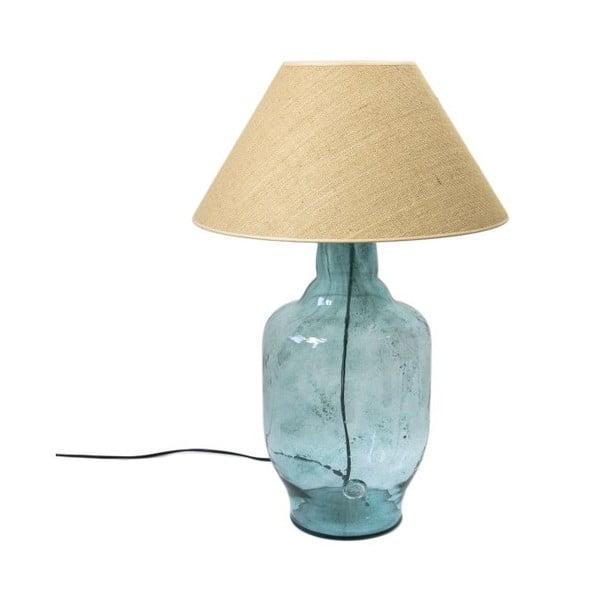 Stolní lampa Glass Classic, tyrkysová