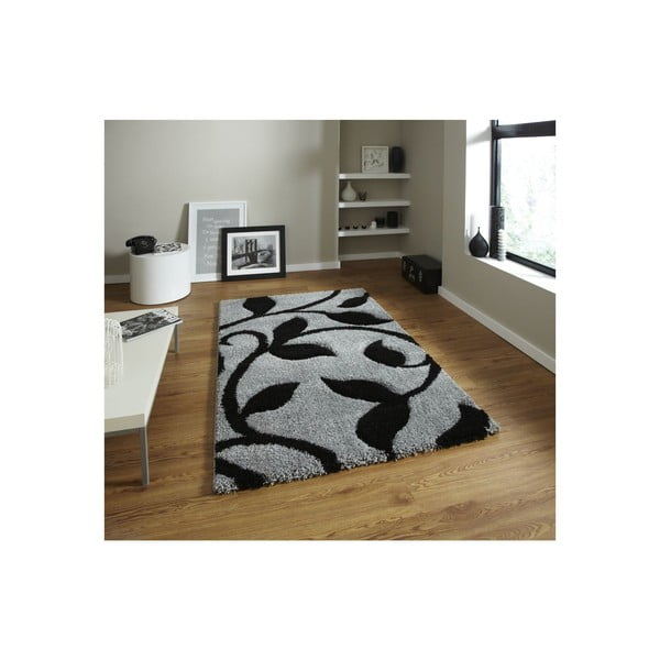 Koberec Think Rugs Fashion Grey Black, 80 x 150cm