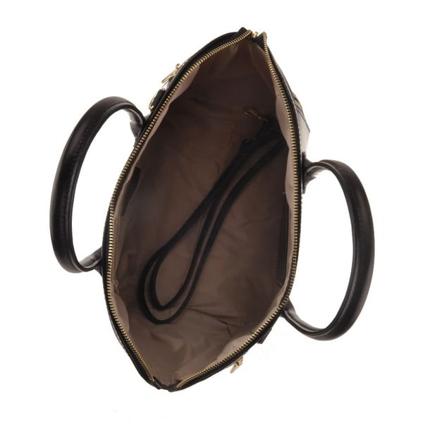 Kožená kabelka Sadira, černá