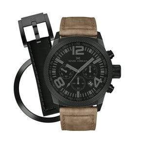 Unisex hodinky Marc Coblen s páskem a kroužkem navíc P62