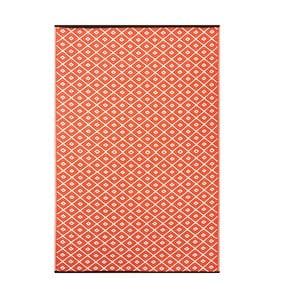 Oranžový oboustranný venkovní koberec Green Decore Arabian Nights, 90 x 150 cm