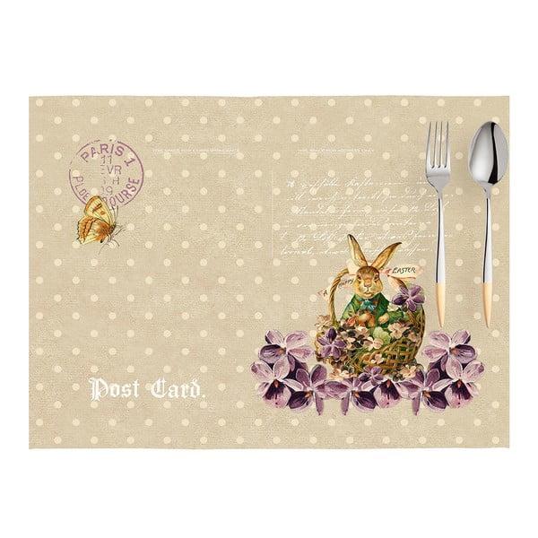 Sada 2 prestieraní Apolena Easter Post Card, 33×45cm