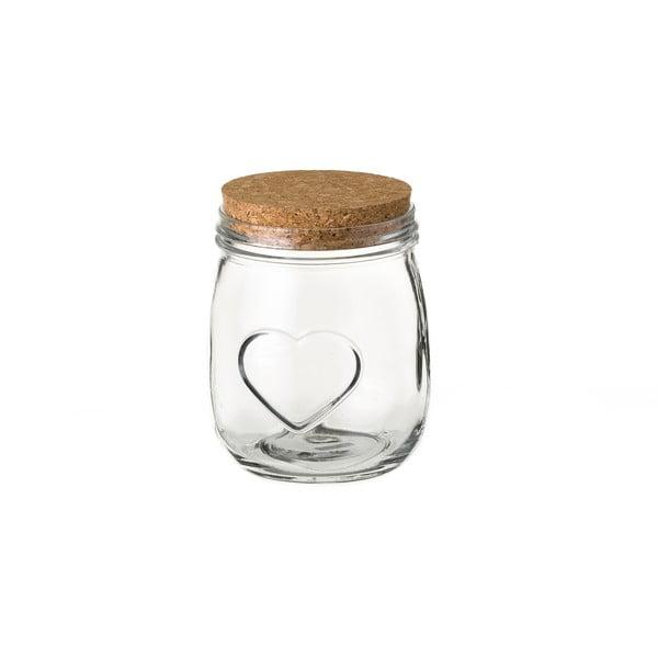Heart üveg tárolóedény, parafa fedéllel, ⌀ 11,1 cm - Unimasa