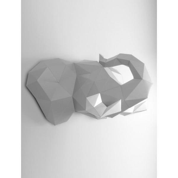 Papírová trofej Slon, šedo-bílý