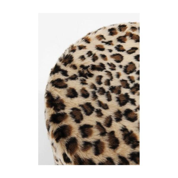 Scaun cu model leopard Kare Design Cherry Leo, ∅ 35 cm