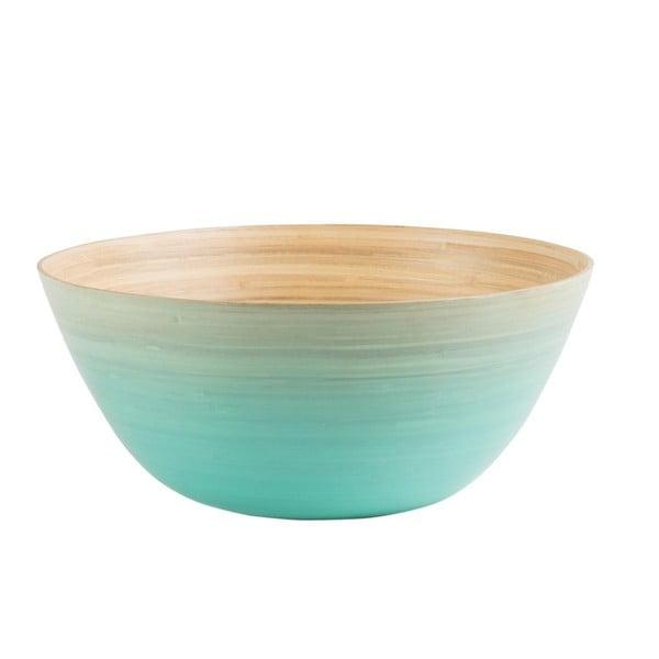 Bambusová mísa Rebu Ombre 28 cm, modrá