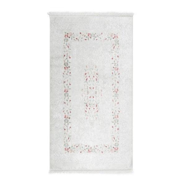 Sametový koberec Deri Dijital Maluna Cream, 80x150cm