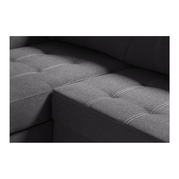 Antracitová sedačka Interieur De Famille Paris Succes, pravý roh