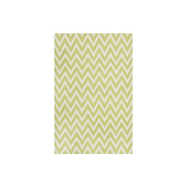 Vlněný koberec Nelli 121x182 cm, zelený