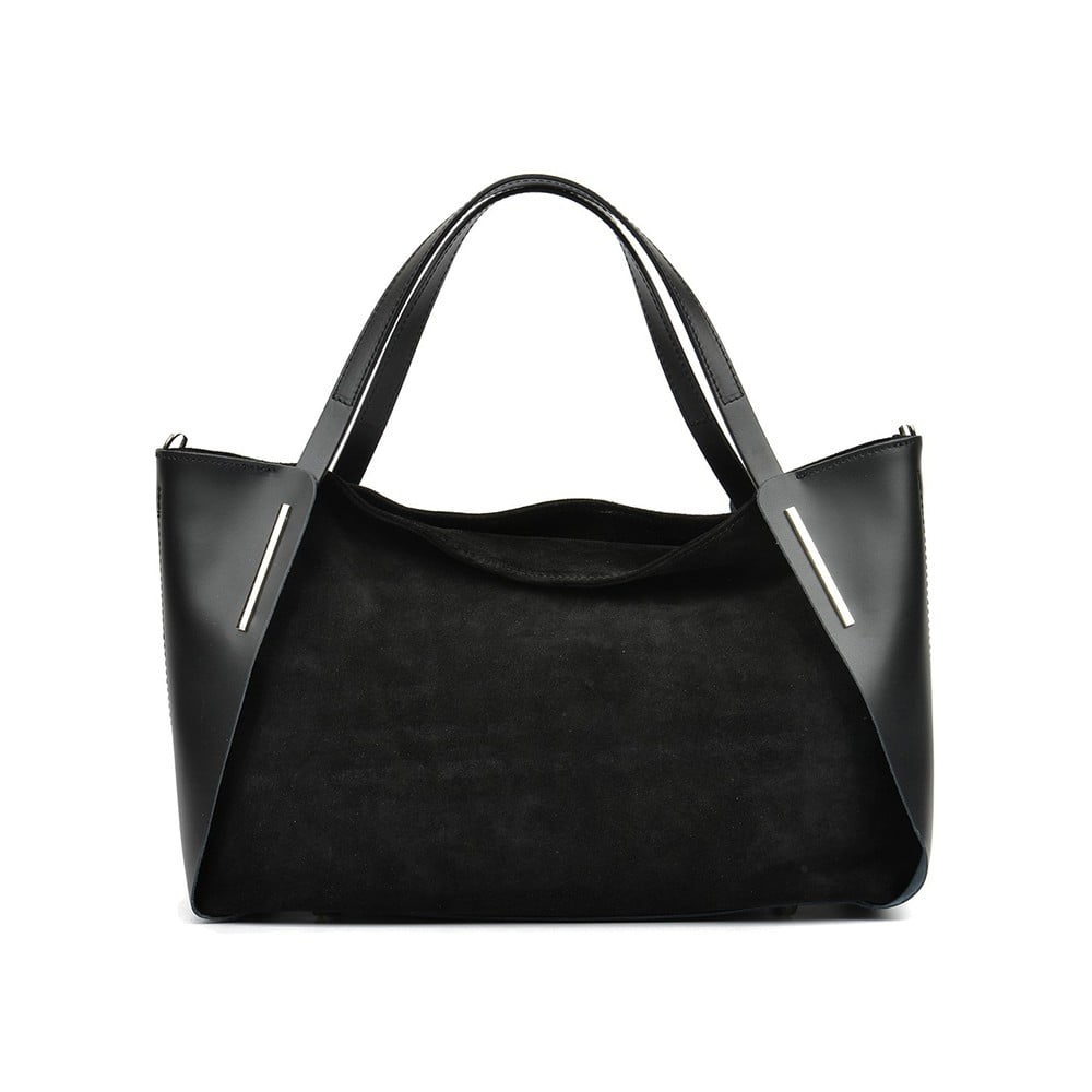 Černá kožená kabelka Mangotti Tribiana