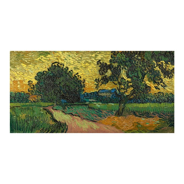 Obraz Vincenta van Gogha - Landscape at Twilight, 80x40 cm