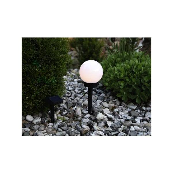Zahradní solární LED světlo Best Season Globe Stick, průměr 15 cm