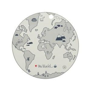 Dětské silikonové prostírání OYOY World, ⌀ 39 cm