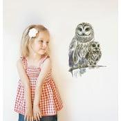 Autocolant refolosibil Woodland Owls, 30x21 cm