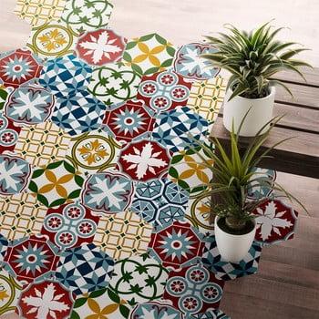 Set 10 autocolante impermeabile pentru podea Ambiance Enricia, 20 x 18 cm de la Ambiance