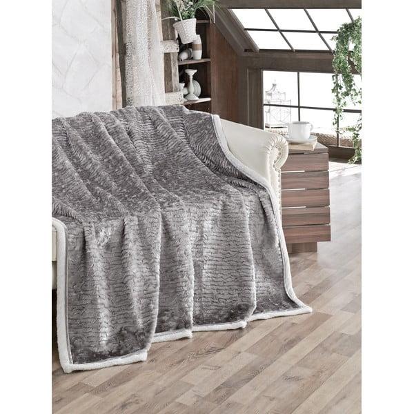 Deka Fluffy Grey, 200x220 cm