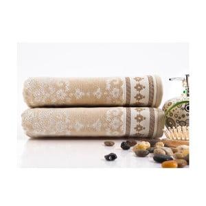 Sada 2 ručníků Sophia Cream, 50x100 cm