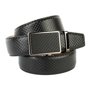 Pánský kožený pásek 37B10 Black, 90 cm