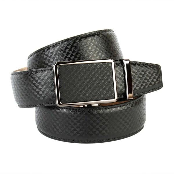Pánský kožený pásek 37B10 Black, 120 cm