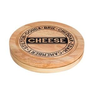Set krájecího prkénka na sýr s úložným prostorem a 4 nožů Premier Housewares