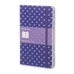 Velký fialový zápisník Moleskine Hard s puntíky, linkovaný