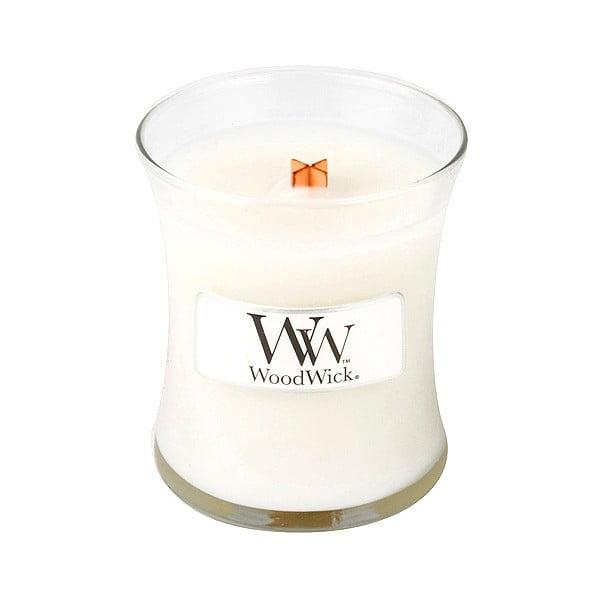 Vonná svíčka WoodWick Čisté prádlo, 85g, 20 hodin