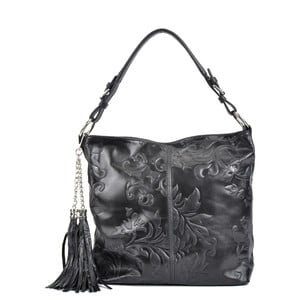 Černá kožená kabelka Isabella Rhea Larto