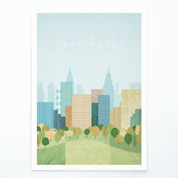 Plakat Travelposter New York II, A3