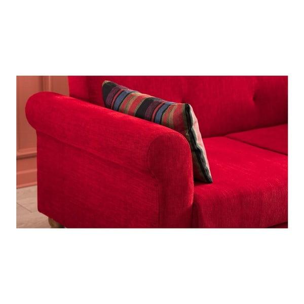 Červená rozkládací pohovka Madona