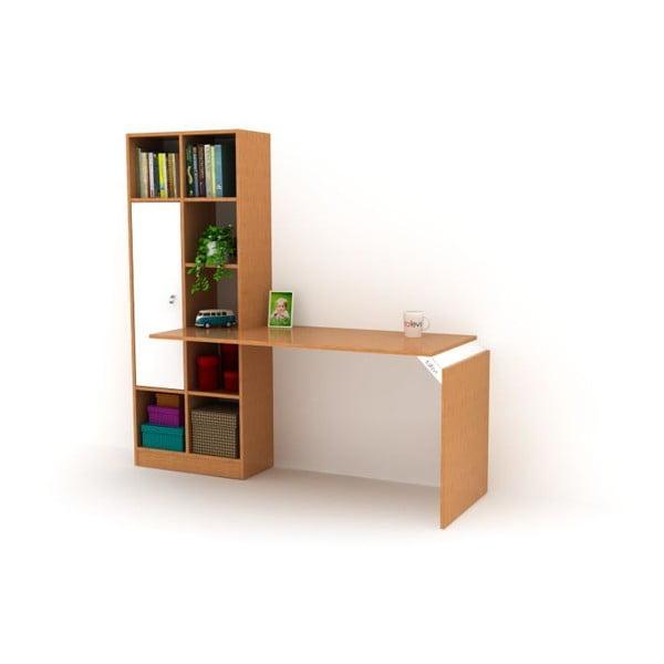 Pracovní stůl s knihovnou Opus