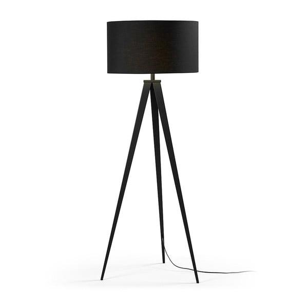 Černá stojací lampa La Forma Uzagi