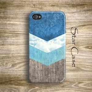 Obal na iPhone 4/4S Wood Arrow Blue